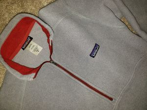 Vintage Patagonia synchilla sweater jacket pullover retro grey for Sale in Stafford, TX