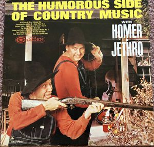 Humorous Side of Country Music w/ Homer & Jethro Vinyl Album $8 for Sale in Ringgold, GA