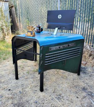 ANTIQUE CHEVY TRUCK HOOD TABLE & DESK!😎 for Sale in Santa Clara, CA