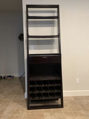 Crate & Barrel Wine Bar with Leaning Shelves+storage for Sale in San Diego, CA