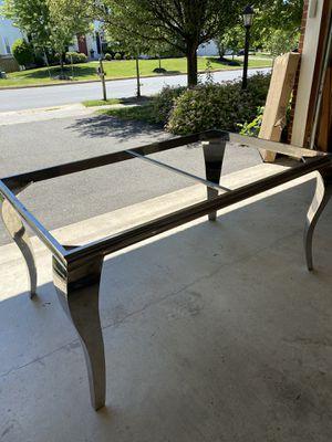 Free chrome table frame like new for Sale in Lovettsville, VA