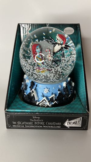 NEW Jack and Sally Musical Swirling Snow Globe for Sale in Montebello, CA