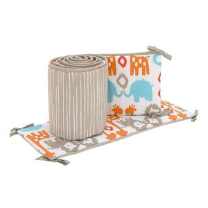 Sumersault Ikat Animals Nursery Crib Bumper for Sale in Compton, CA