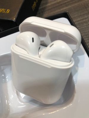 Brand new Bluetooth Wireless earphones Headset headphones UPDATED SMART VERSION airpods earbuds with smaller portable charging case for Sale in Davie, FL