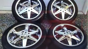 26 inch dub big homie wheels and 26 inch pirelli scorpion tires brand new never used. for Sale in Belmont, MA