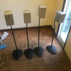 Four Sony SS-MSP761 Speakers On Sanus Stands for Sale in Morgantown,  WV