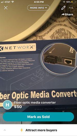 Fiber optic media converter for Sale in Traverse City, MI