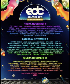 3-Day VIP Ticket for EDC Orlando! for Sale in West Palm Beach, FL