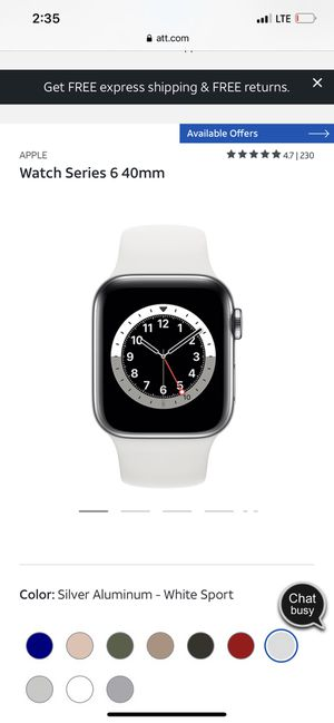 Iwatch 6 40mm aluminum brand new for Sale in Rialto, CA