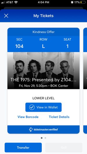 The 1975 The Edge Black Friday Show for Sale in Tulsa, OK