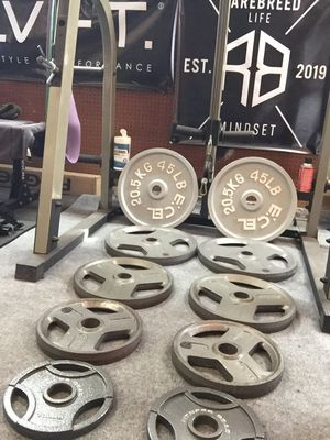"""Weight plates - olympic (2"""") - E*CEL , Weider, and Fitness Gear. for Sale in Salinas, CA"""