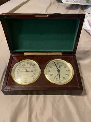 Antique clock & barometer for Sale in Glendale, CA