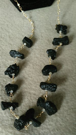 "36"" Moonstone Lava Rock Necklace for Sale in Eureka, CA"