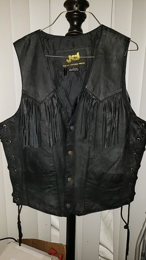 Black Leather Vest for Sale in Antioch, CA