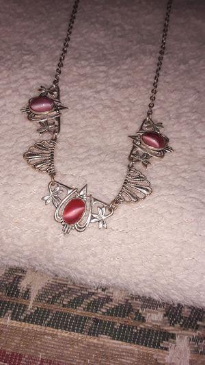 pink moonstone vintage necklace for Sale in Madison, VA