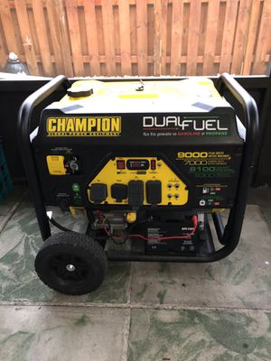 Champion Dual Fuel Generator, electric start for Sale in Fort Lauderdale, FL