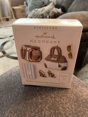 Hallmark 2006 Barbie Fashion Pup Ornament Set Miniatures for Sale in Peyton, CO