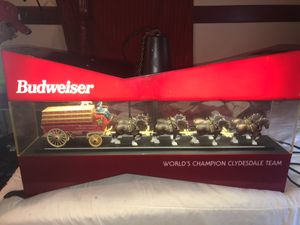 budweiser bow tie clydesdale team rotating light for Sale in Columbus, OH