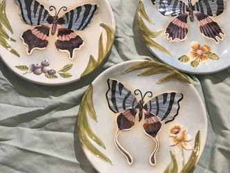 Home interiors butterfly wall plates decor for Sale in Fresno,  CA