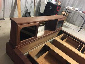 80 s king bed frame. Hand made for a waterbed would work for standard. for Sale in Hoquiam, WA