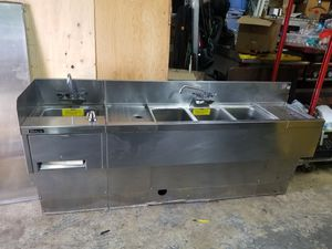 """PERLICK 78""""...3 COMPARTMENT SINK W/UTILITY SINK for Sale in Chicago, IL"""