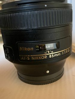 Nikon AF-S Nikkor 85mm f/1.8G Prime Lens for Sale in San Diego,  CA