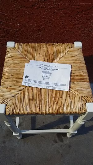 White wooden stool for Sale in Alameda, CA
