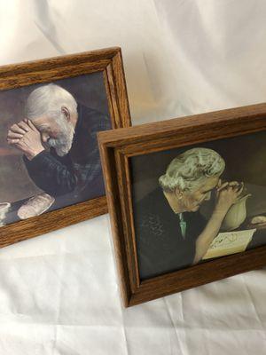 Vintage grandma and grandpa praying art for Sale in Spokane, WA