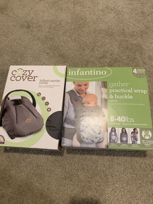 Carrier Seat Cover & Baby Wrap Carrier Bundle