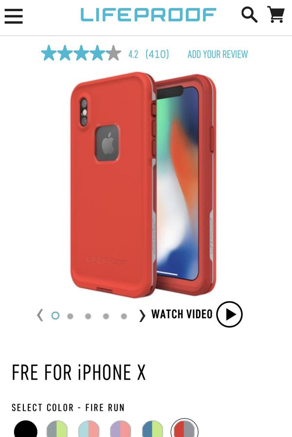 timeless design 5138d 2fbc9 IphoneX case LifeProof FRE (NEW) (RED) 45.00 or obo for Sale in Charlotte,  NC - OfferUp