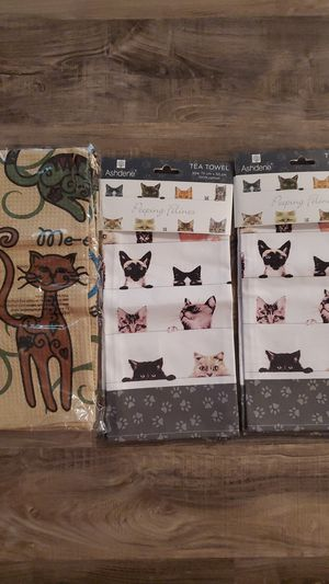 Cat kitchen decorator towels for Sale in Port St. Lucie, FL
