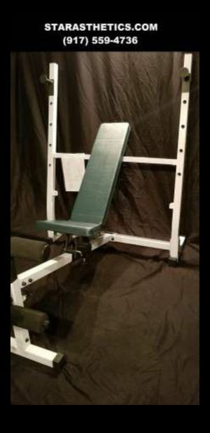 NEW OLYMPIC BENCH PRESS WITH LEG ATTACHMENT for Sale in Queens, NY