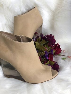 Burberry Suede Lucite Ankle Booties Size 7 (37) for Sale in The Colony, TX