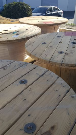 Wood cable wheel for Sale in Corona, CA