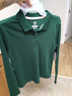 New school uniform shirt green for Sale in San Jose, CA