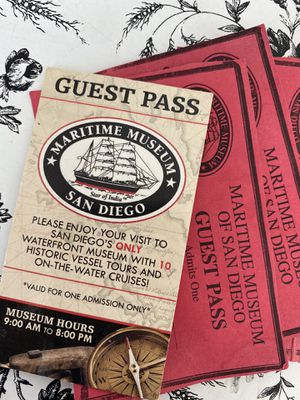 4 tickets to the maritime museum of San Diego for Sale in San Diego, CA