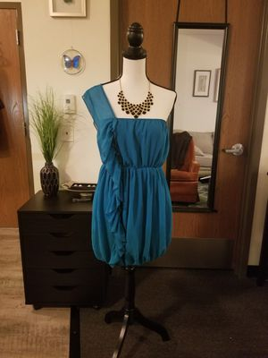 Asos Turquoise Grecian-style Party Dress Size 10 for Sale in Las Vegas, NV