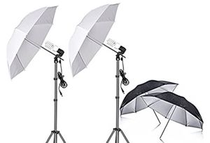 45 inch black, white, silver umbrella's for Sale in Federal Way, WA