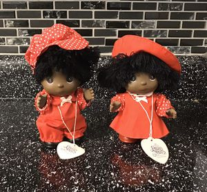 "2 1989 African American 5"" Vinyl Precious Moments Hi Babies Dolls Enesco for Sale in Colorado Springs, CO"