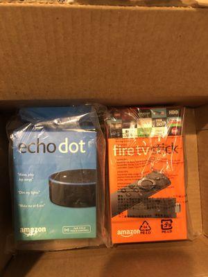 Echo dot & fire tv stick for Sale in Gilbert, AZ