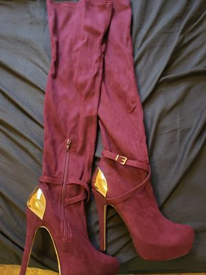 Thigh high heel boots for Sale in Chicago, IL