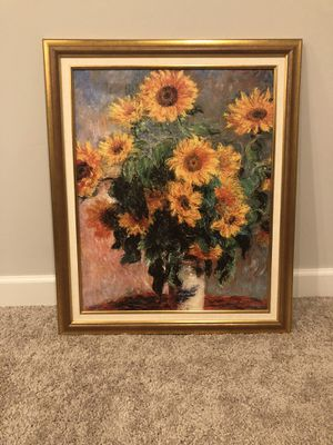 Sunflower painting (Monet Giclee) for Sale in Minneapolis, MN