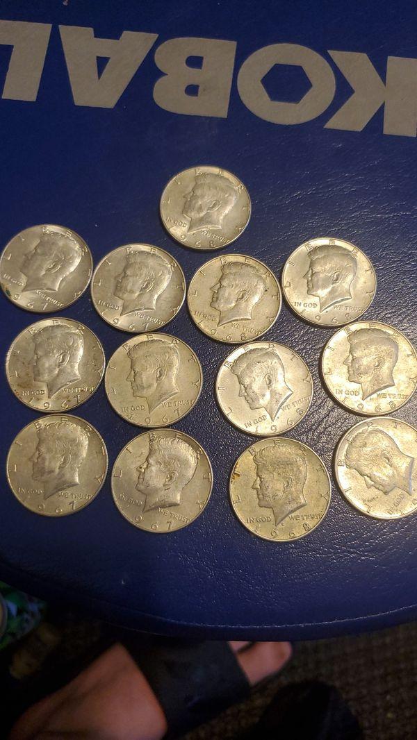 1967-1968 Kennedy half dollars