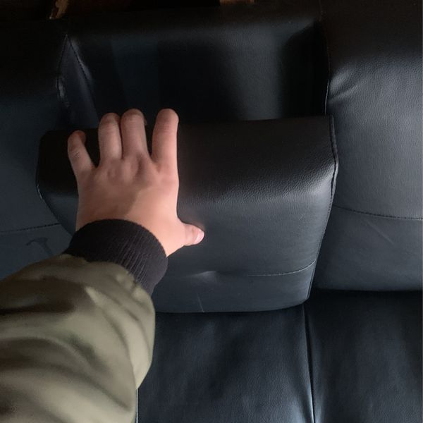 Faux Leather Futon Cup Holder