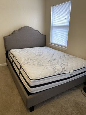 Queen bed frame mattress box spring for Sale in Lawton, OK