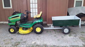 Jonh deere atv tactor with trailer for Sale in Grand Prairie, TX