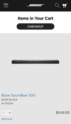 Brand New Bose Soundbar 500 for Sale in Goodyear, AZ