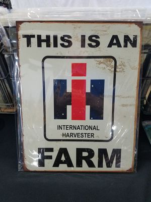 This is a international harvester farm tractor tin metal sign for Sale in Vancouver, WA