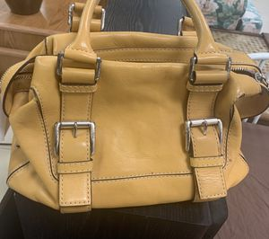 Michael Kors mustard yellow leather purse for Sale in Port Charlotte, FL
