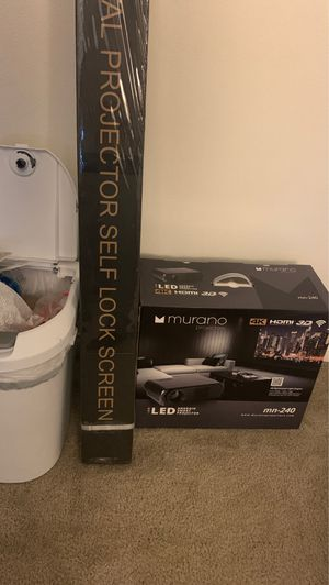 Murano Projector & Screen for Sale in Fontana, CA